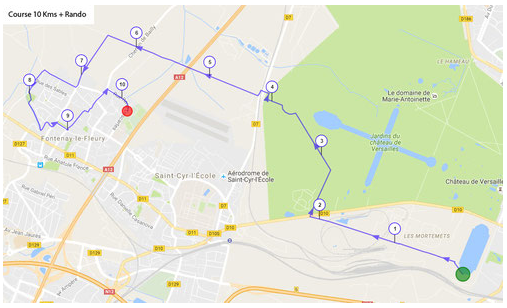 Itinéraire course royale 10km