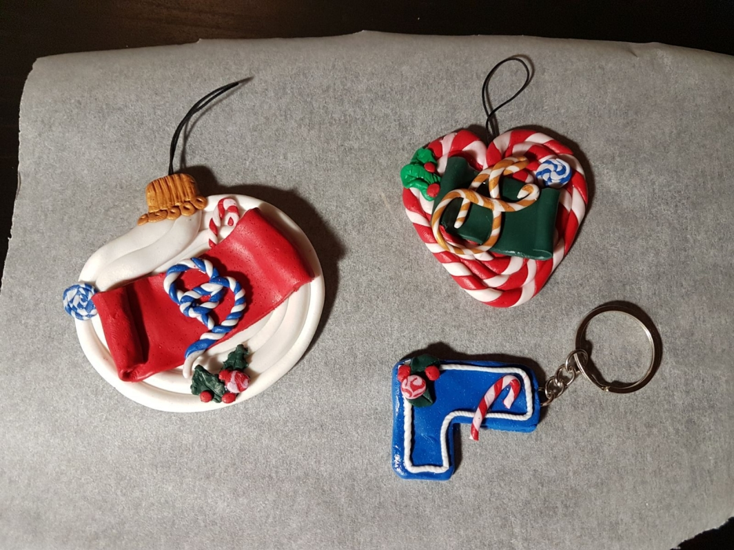 polymer clay christmas decorations